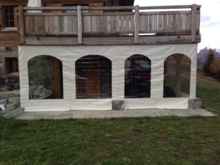 fermeture de terrasse démontable en bâche
